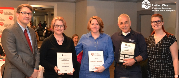 United Way staff present three awards to Utilities Kingston
