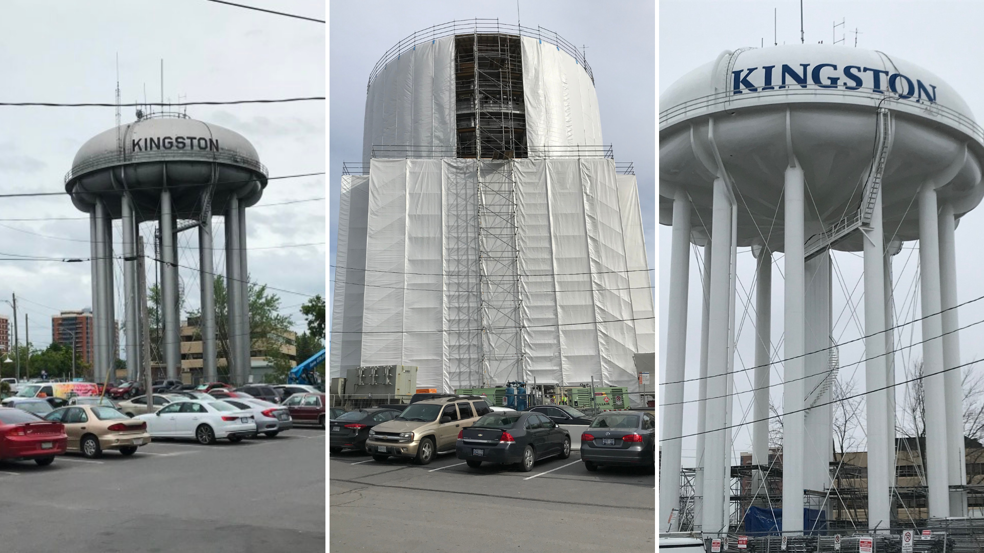 Photos show the facility before, during and after construction