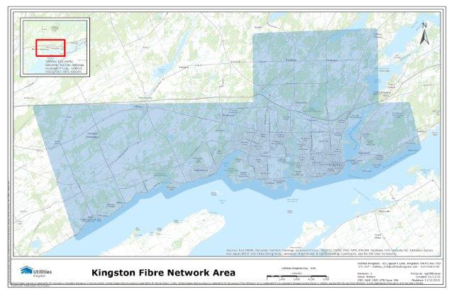 Map of Kingston Fibre Network Area
