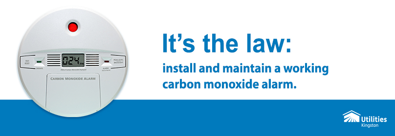 Install a working carbon monoxide alarm. It's the law
