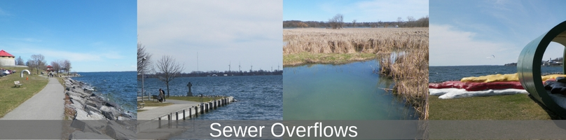 sewer overflow locations at Kingston's waterfront