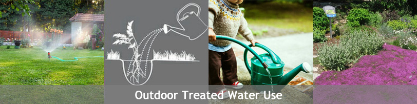 Outdoor treated water use
