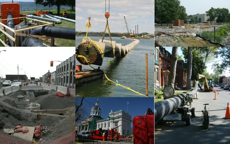 Construction projects in Kingston that contributed to reducing sewer overflows
