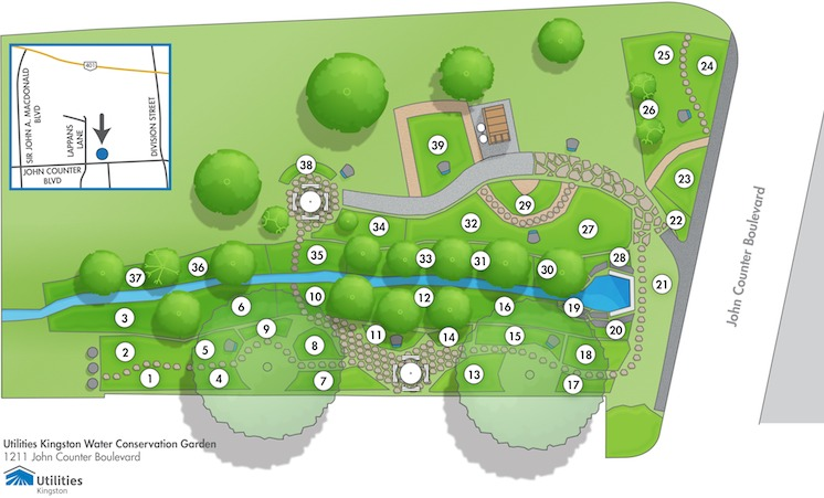 Map of garden areas