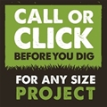Call before you dig to locate underground lines
